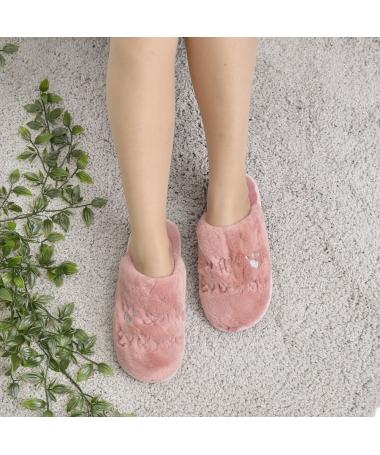 Papuci De Casa De Dama Scriserin Piersica - Trendmall.ro