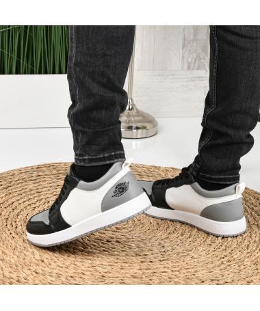 Pantofi Sport De Barbati Sort Alb Cu Gri - Trendmall.ro