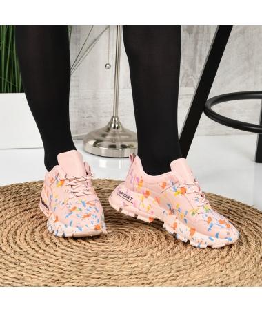 Pantofi Sport De Dama Leson Roz - Trendmall.ro