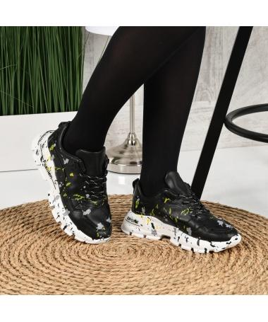 Pantofi Sport De Dama Leson Negri - Trendmall.ro