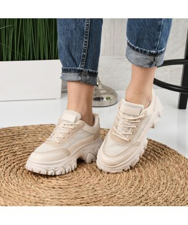 Pantofi Sport De Dama Dentin Bej - Trendmall.ro