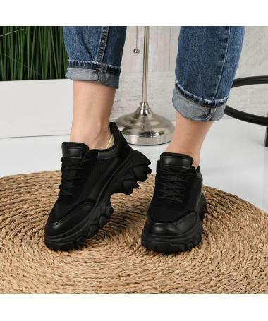 Pantofi Sport De Dama Dentin Negri - Trendmall.ro