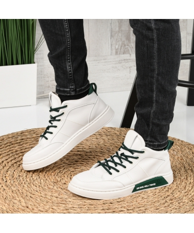 Pantofi Sport De Barbati Livin Alb Cu Verde - Trendmall.ro