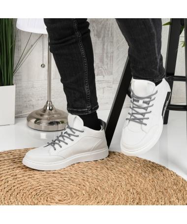 Pantofi Sport De Barbati Livin Alb Cu Negru - Trendmall.ro