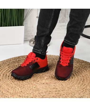 Pantofi Sport De Barbati Oblivio Rosii - Trendmall.ro