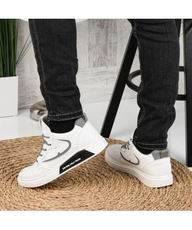 Pantofi Sport De Barbati Renel Albi - Trendmall.ro
