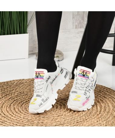 Pantofi Sport De Dama Reli Albi - Trendmall.ro