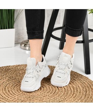 Pantofi Sport De Dama Suter Albi - Trendmall.ro