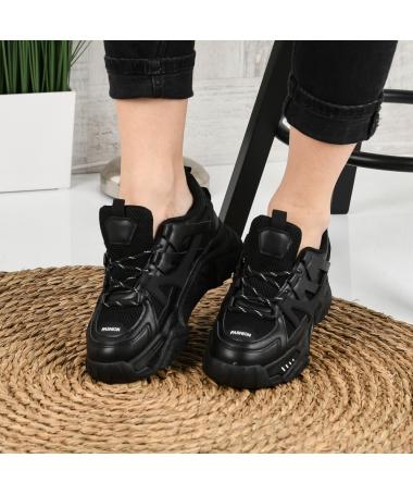 Pantofi Sport De Dama Suter Negri - Trendmall.ro
