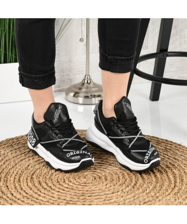 Pantofi Sport De Dama Xora Negri - Trendmall.ro