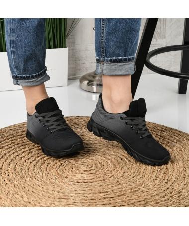 Pantofi Sport De Dama Rebin Negru Cu Gri - Trendmall.ro