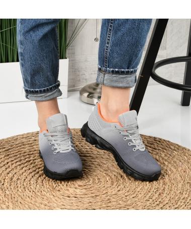 Pantofi Sport De Dama Rebin Gri - Trendmall.ro