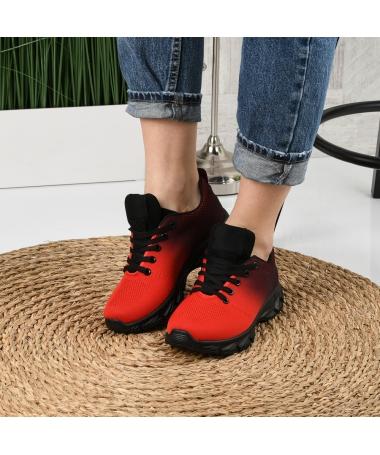 Pantofi Sport De Dama Rebin Rosii - Trendmall.ro