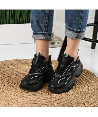 Pantofi Sport De Dama Venor Negri - Trendmall.ro