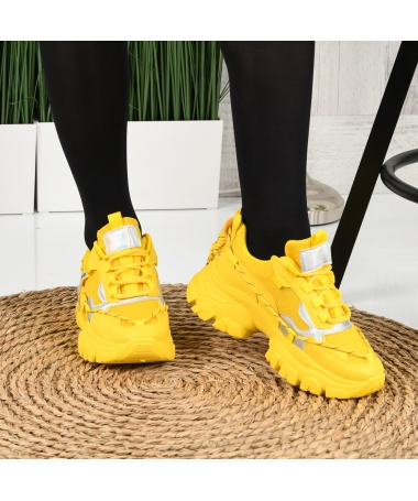 Pantofi Sport De Dama Maian Galbeni - Trendmall.ro