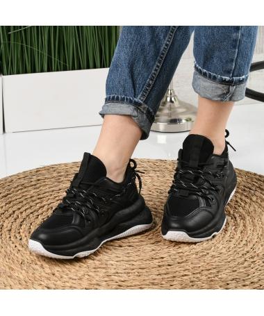 Pantofi Sport De Dama Zaren Negri - Trendmall.ro