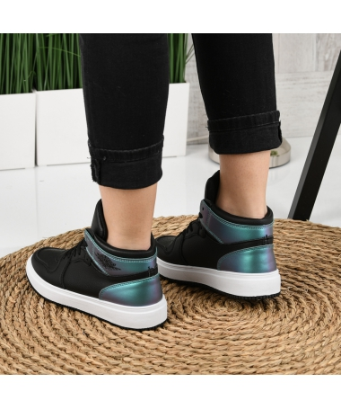 Pantofi Sport De Dama Janen Negru Cu Verde - Trendmall.ro