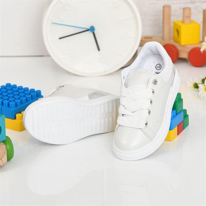 Pantofi Sport De Copii Bain Albi - Trendmall.ro