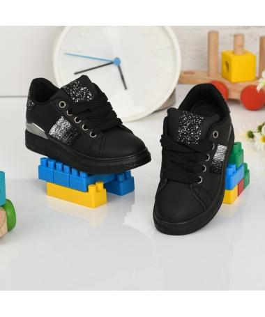Pantofi Sport De Copii Aselin Negri - Trendmall.ro