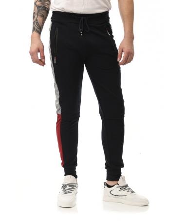 Pantaloni Sport De Barbati Apero Albastru Cu Rosu - Trendmall.ro