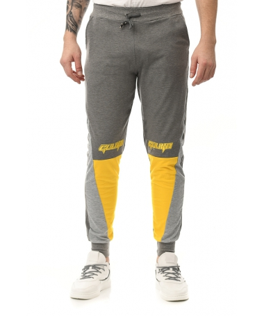 Pantaloni Sport De Barbati Gulian Gri Cu Galben - Trendmall.ro
