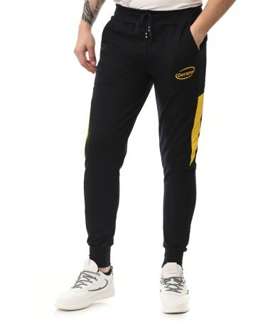 Pantaloni Sport De Barbati Derams Albastru Cu Galben - Trendmall.ro