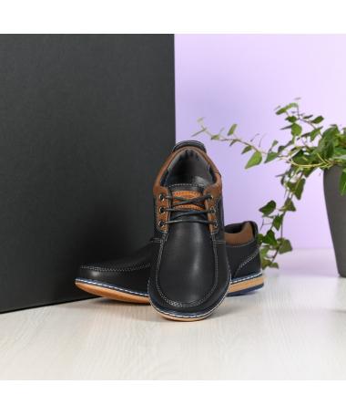 Pantofi Casual De Copii Eduardo Albastri Inchis - Trendmall.ro