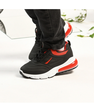 Pantofi Sport De Copii Picter Negru Cu Rosu - Trendmall.ro