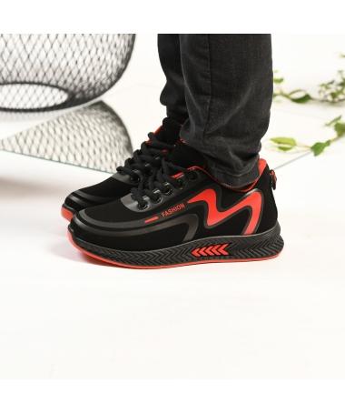 Pantofi Sport De Copii Mini Mari Negru Cu Rosu - Trendmall.ro