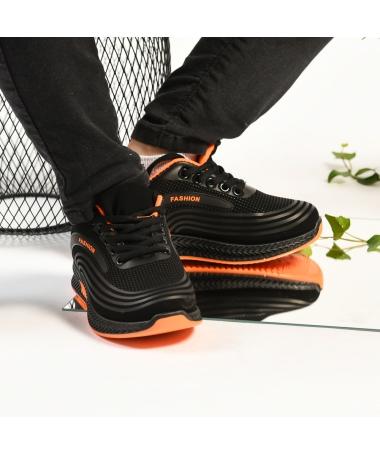 Pantofi Sport De Copii Arten Negru Cu Portocaliu - Trendmall.ro