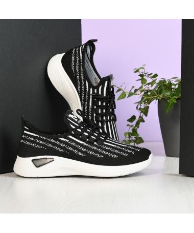 Pantofi Sport De Barbati Zebra Negru - Trendmall.ro