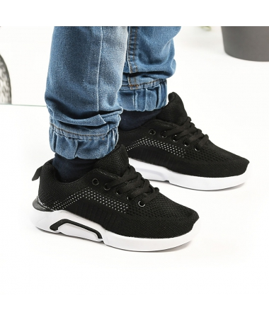 Pantofi Sport De Copii Trendy Negru cu Alb - Trendmall.ro