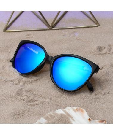 Ochelari De Soare De Dama Oversized Marby Albastru - Trendmall.ro