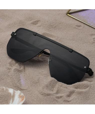 Ochelari De Soare Unisex Shield Vico Negru - Trendmall.ro