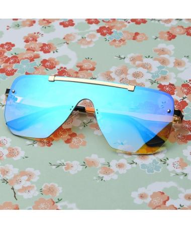 Ochelari De Soare Unisex Shield Vico Albastru - Trendmall.ro