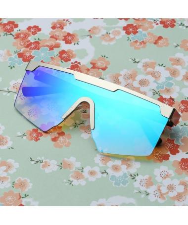 Ochelari De Soare Unisex Retro Square Fisco Albastru - Trendmall.ro