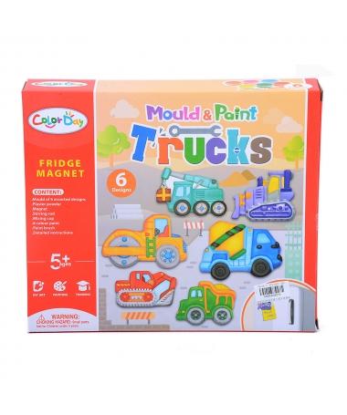 Set Pictat Si Creat Magneti - Trucks - Trendmall.ro