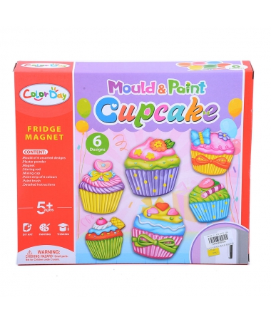 Set Pictat Si Creat Magneti - Cupcake - Trendmall.ro