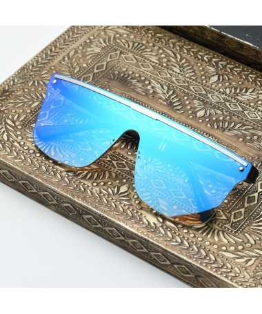 Ochelari De Soare Unisex Retro Square Crib Albastru - Trendmall.ro