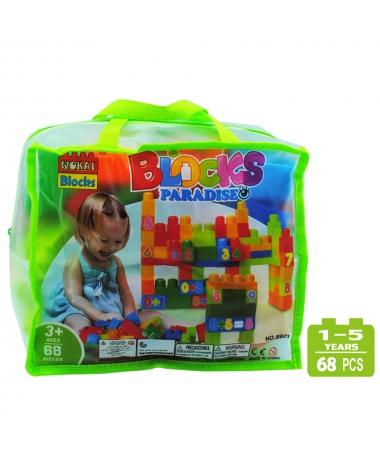 Cuburi De Construit Pentru Copii - Paradise - 68 de Piese - Trendmall.ro