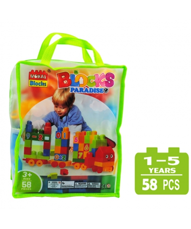 Cuburi De Construit Pentru Copii - 58 Piese - Cifre - Trendmall.ro