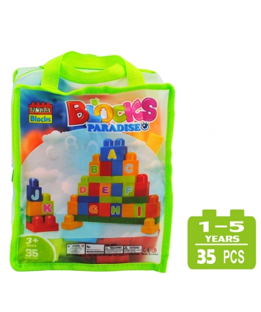 Cuburi De Construit Pentru Copii - 35 de Piese - Litere - Trendmall.ro