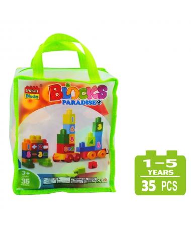 Cuburi De Construit Pentru Copii - 35 de Piese - Cifre - Trendmall.ro