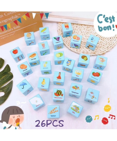 Joc Cuburi Colorate Multicolore - 26 Piese - Trendmall.ro
