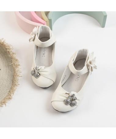 Pantofi Casual De Copii Cherry Albi - Trendmall.ro