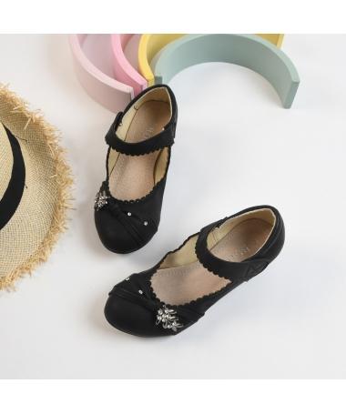 Pantofi Casual De Copii Iris Negri - Trendmall.ro