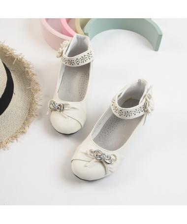 Pantofi Casual De Copii Sissi Albi - Trendmall.ro