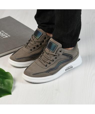 Pantofi Sport De Barbati Christian Gri - Trendmall.ro