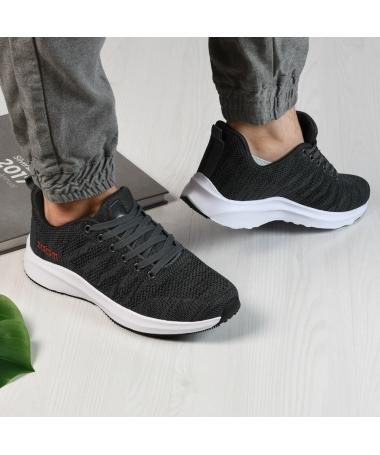 Pantofi Sport De Barbati Zoom Gri Cu Negru - Trendmall.ro