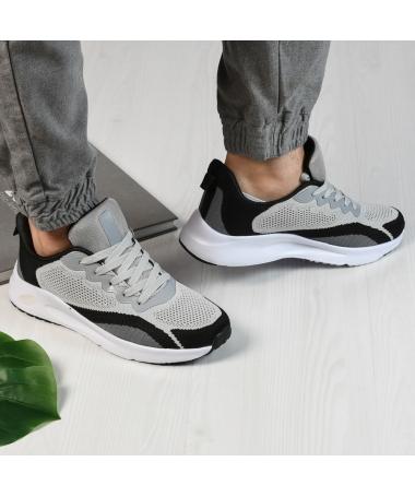 Pantofi Sport De Barbati Zanotti Gri Cu Negru - Trendmall.ro